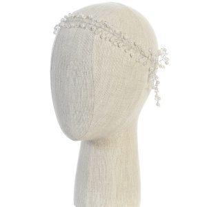 Silver Crystal Spray First Communion Hairband