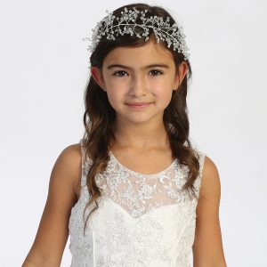 Silver Spray First Communion Hairband