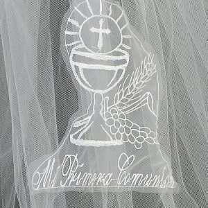 Spanish First Communion Veil Mi Primera Communion Cup of Blessings for Girls