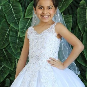 Tea Length Kids Ball Gown First Communion Dress New for 2020