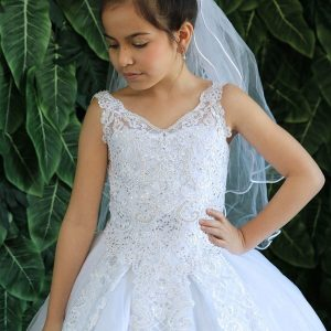 Tea Length Kids Ball Gown First Communion Dress for 2020