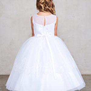 Tea Length Lace Organza First Holy Communion Dress