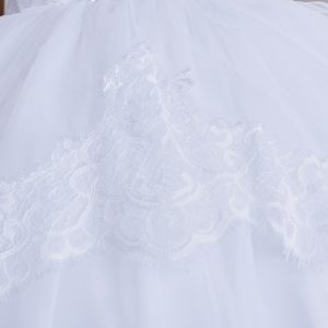 Tea Length White Lace Organza SkirtFirst Communion Dress