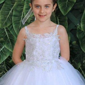 new stsyle silver design bodice with tulle skirt first communion dress 2020