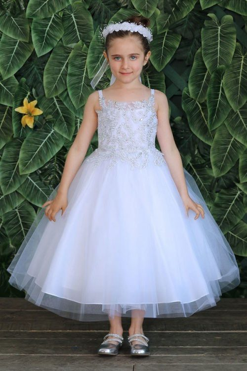 Silver Design Bodice First Communion Dress