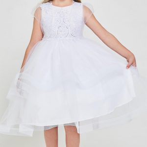 Cheap Embroidered sequins first communion dress