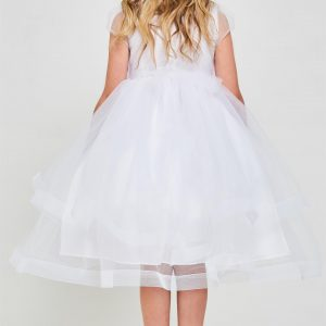 Embroidered sequins first communion dresses with Bolero Jacket