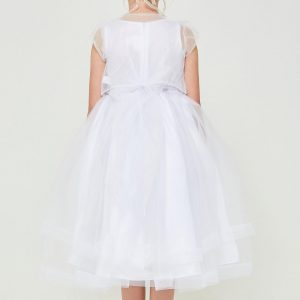 Tea Length Embroidered sequins first communion dress