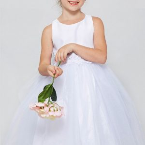 Cheap Solid tulle First Communion Dresses