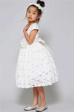 Cotton floral lace flared First Holy Communion Dress