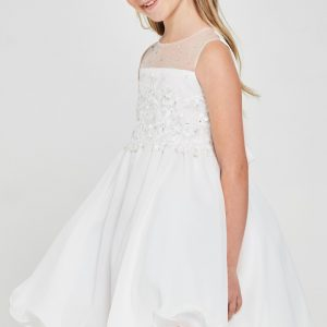 Floral embroidered Chiffon Communion Dress