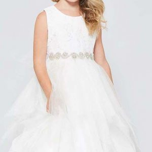 Lace tulle Communion dress Double Layer Skirt