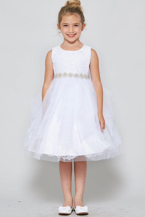 Lace tulle First Communion dress Double Layer Skirt