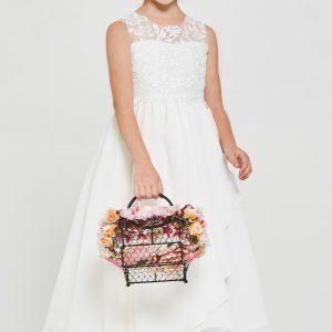 New Style Embroidered lace chiffon First Communion Dress