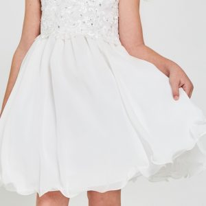 Pretty Floral embroidered Chiffon First Holy Communion Dress