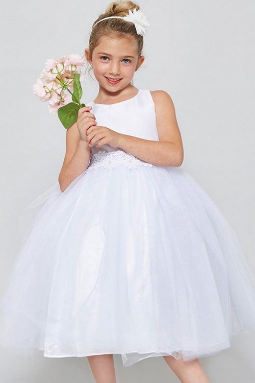 Solid tulle First Communion Dress