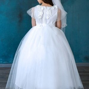 Cap Sleeve Tulle First Communion dress