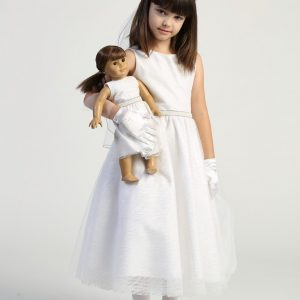First Communion Dress with matching doll