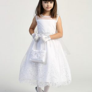Inexpensive First Communion Dress with Crystals