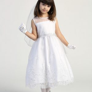 New Style First Communion Dress with Crystals