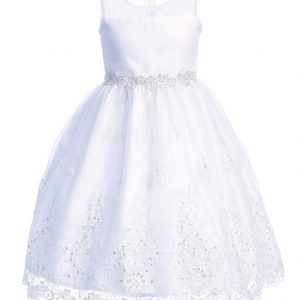 Plus Size First Communion Dress with Crystals