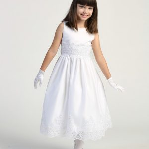 Size 12 First Communion Dress with Beaded Bodice and Skirt