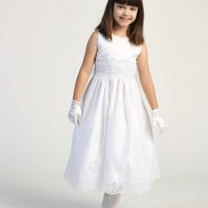 Size 14 First Communion Dress with Beaded Bodice and Skirt