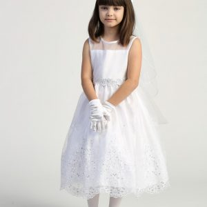 Size 8 First Communion Dress with Crystals