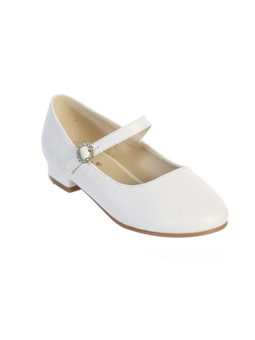 White First Communion Shoes with Strap