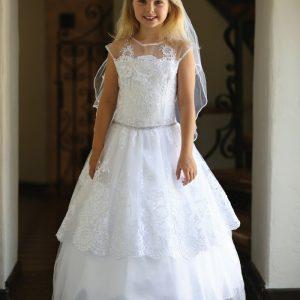 Beautiful Lace First Communion Dress with Corset Back