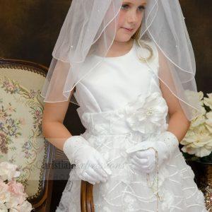 Chiffon First Communion Dress for Girls