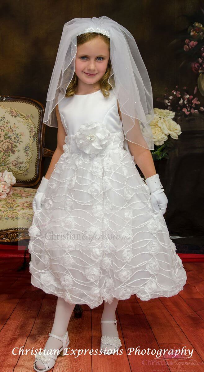 Chiffon First Communion Dress