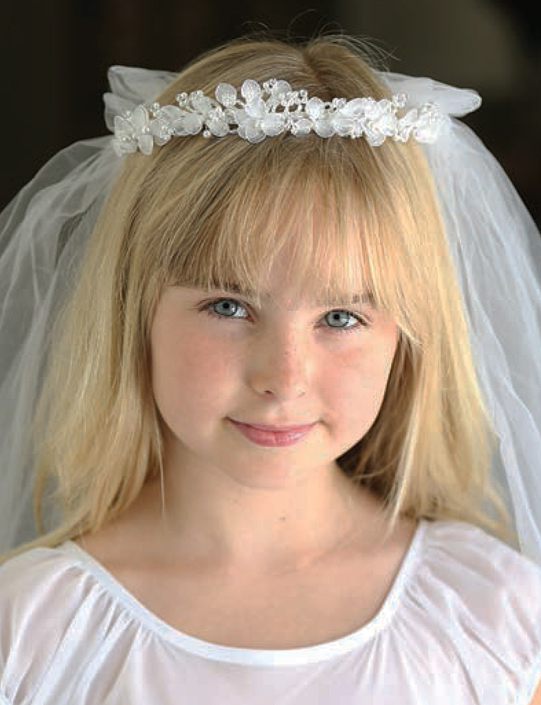 Crystal First Communion Headpiece Communion Veil