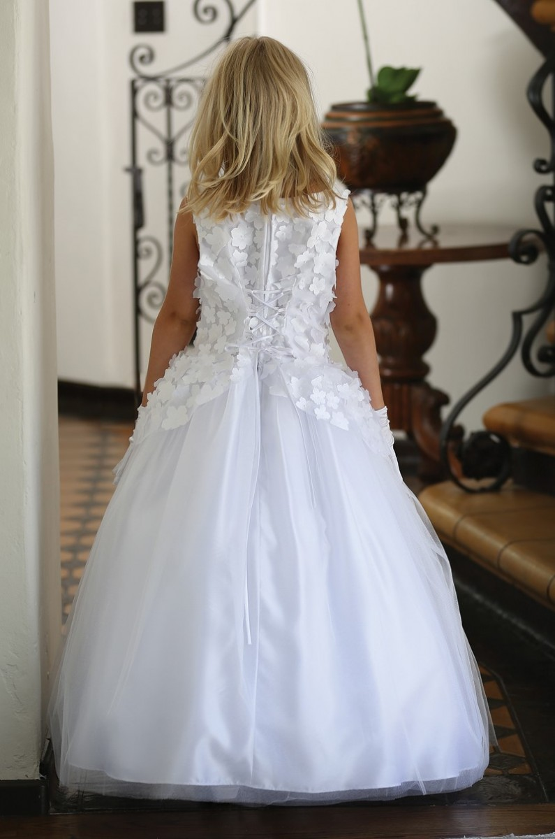 Crosses For Sale >> Floral Full Length First Communion Dress | Italian First ...