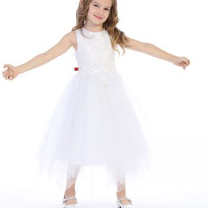 Embroidered Beaded First Communion Dress