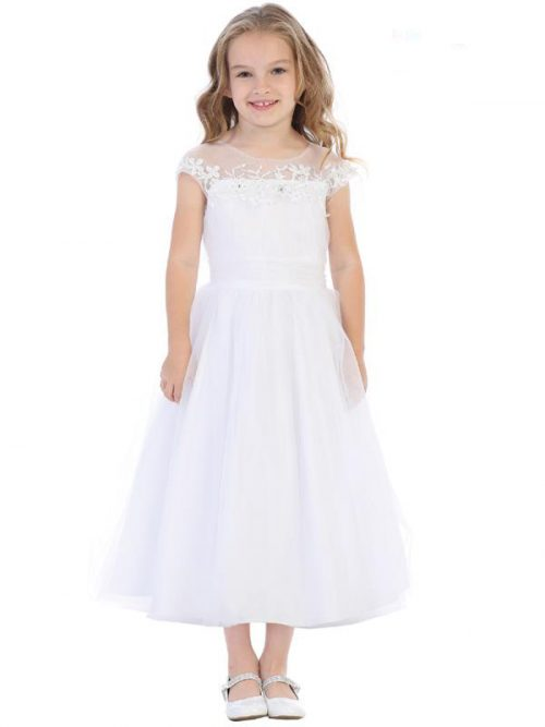 Embroidered Holy Communion Dress