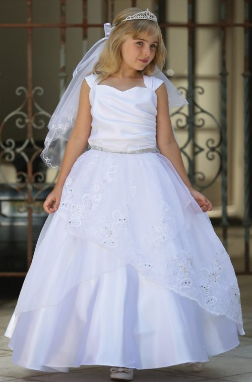 Embroidered Organza First Communion Dress