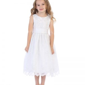 Embroidered-Organza-First-Communion-Dress