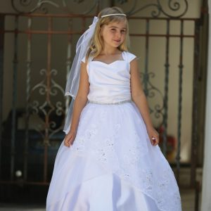 Embroidered Organza First Holy Communion Dress