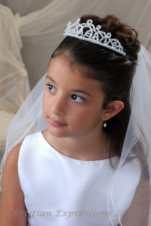 First Communion Crown Tiara 4590