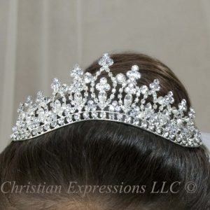 First Communion Crystal Crown T802