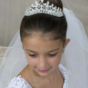 First Communion Crystal Crown Tiara V802