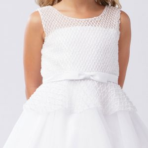 1st Holy Communion Dress with Mesh Bodice