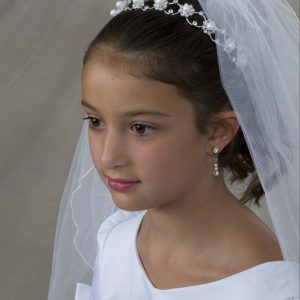 First Communion Hairband with Large Pearls