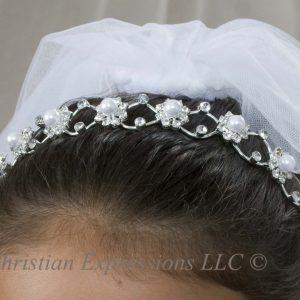 First Communion Pearl Headband