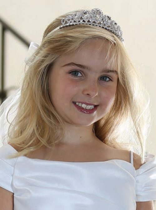 First Communion Rhinestone Crown Tiara Veil
