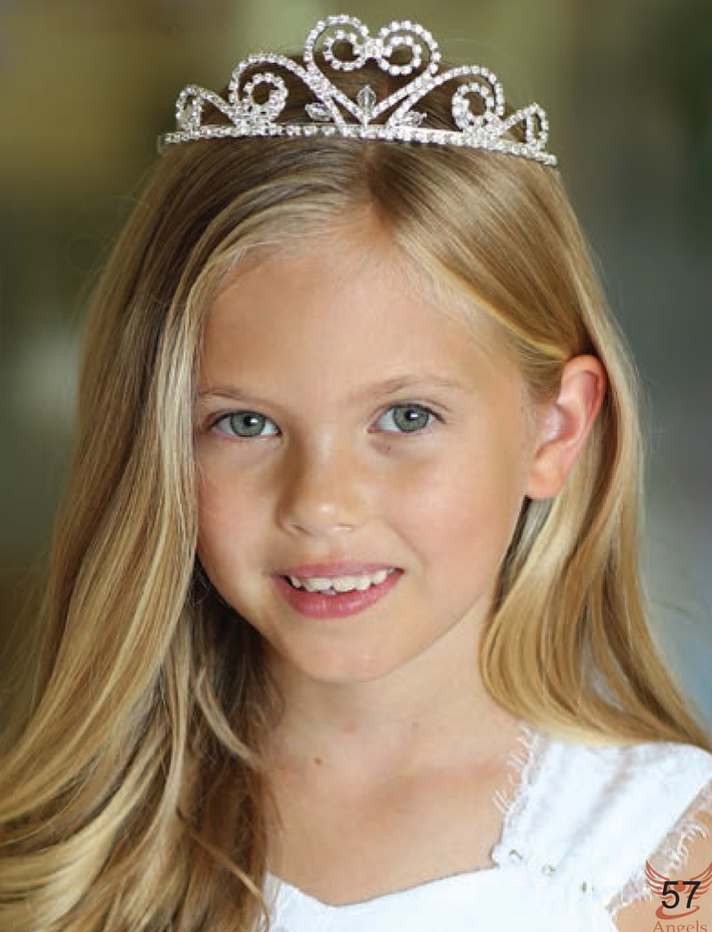 First Communion Tiara with Crystal Beads Veil