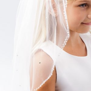 Crystal Beaded Holy Communion Veil