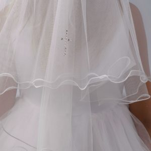 First Communion Veil with Cross