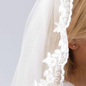 Floral Lace Communion Veil